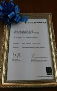 DPK Literati Award Certificate